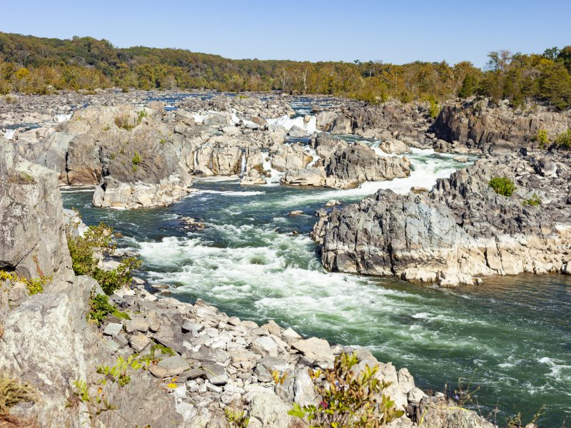 Great Falls National Park In Fairfax, Virginia